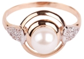 Кольцо с жемчугом 190-1-234Р