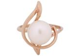 Кольцо с жемчугом 190-1-243