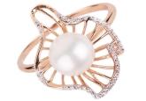 Кольцо с жемчугом 190-1-244Р