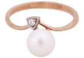 Кольцо с жемчугом 190-1-284Р