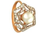 Кольцо с жемчугом KL190-1-01334P
