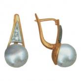 Серьги с жемчугом СЛ-298-1-076